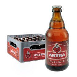 astra bier pils 0,33 Liter rotlicht