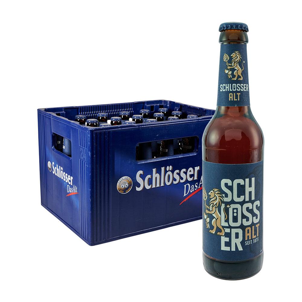 schlösser alt altbier bier 24 x 0,33 Liter