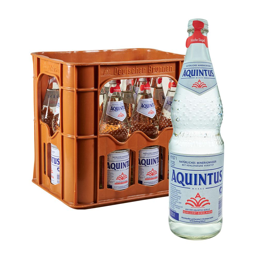Aquintus Mineralwasser Classic 12 x 0,7 liter sprudel wasser klassik