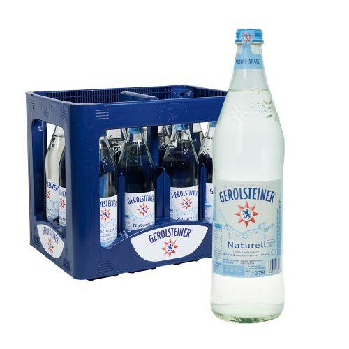 Gerolsteiner Naturell Mineralwasser 12 x 0,75L Glas