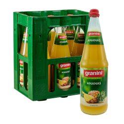 Granini Ananas Saft 6 x 1 L Liter Glas