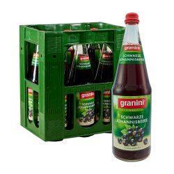 Granini Schwarze Johannisbeere Saft 6 x 1L Glas liter
