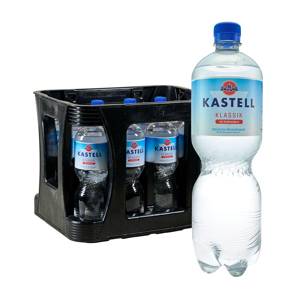 Kastell 1 liter klassik sprudel pet 12
