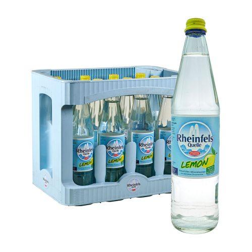 Rheinfels Quelle Natürliches Mineralwasser Lemon 12 x 0,7L Glas