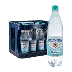 Gerolsteiner Mineralwasser Medium 12 x 1L wasser