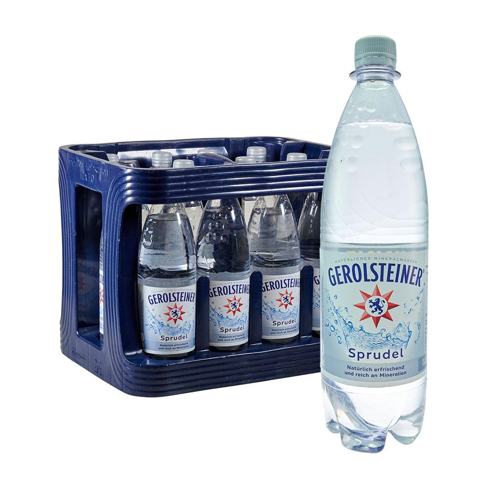 Gerolsteiner Sprudel Mineralwasser 12 x 1L wasser