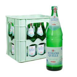 schlossquelle medium wasser glas flasche kasten 12 0,75l