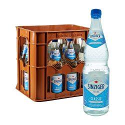 Sinziger Mineralwasser Classic 12 x 0,7L Glas sprudel
