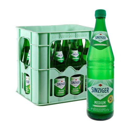 Sinziger Mineralwasser Medium 12 x 0,75L Glas wasser