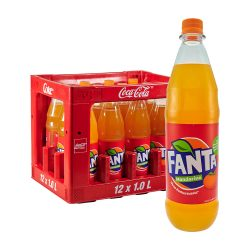 Fanta Mandarine 12 x 1L ohne zuckerzusatz