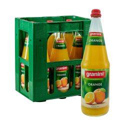 Granini Orange Saft 6 x 1L Glas