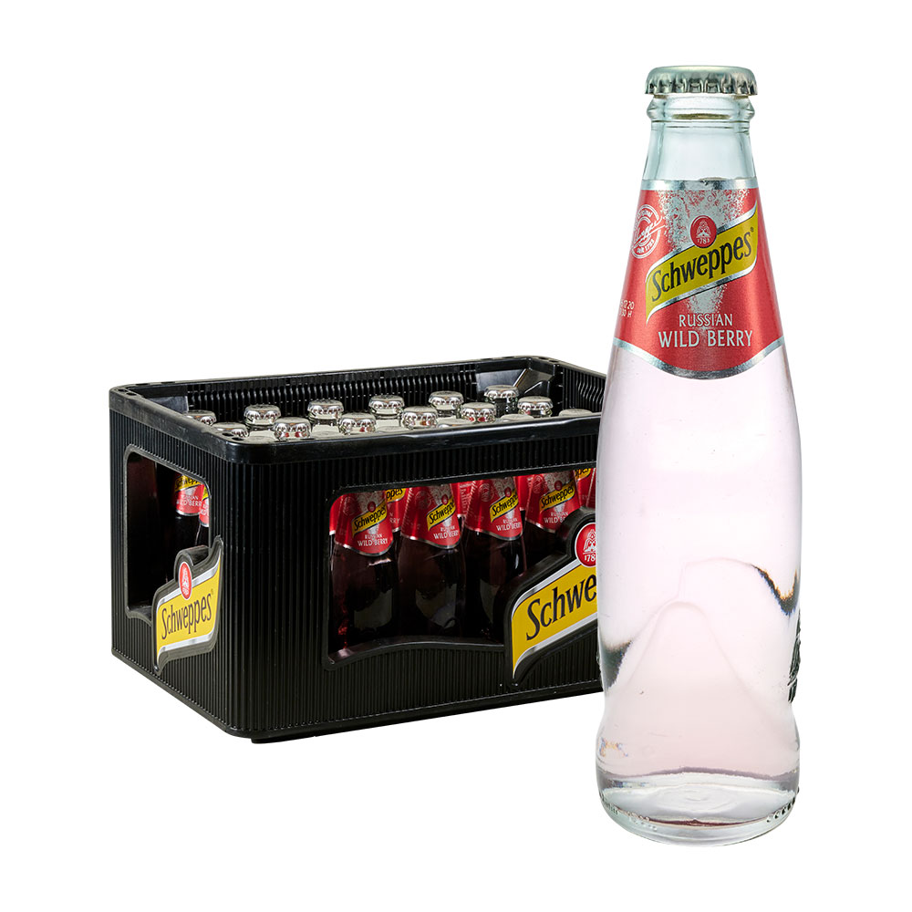 Schweppes Russian Wild Berry 24 x 0,2L Glas