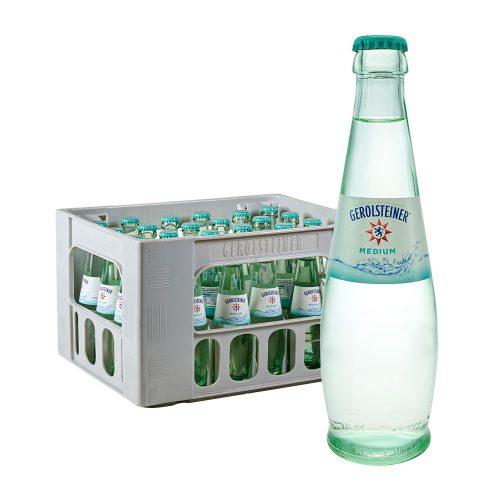 Gerolsteiner Natürliches Mineralwasser Medium 24 x 0,25L Glas wasser