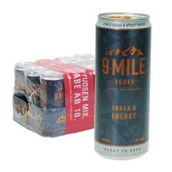 9 mile vodka & energy dose 12 x 0,33l