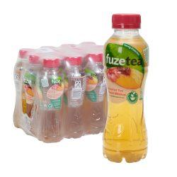 Fuze Tea Schwarzer Tee Pfirsich Hibiskus 12 x 0,4L PET