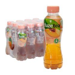 Fuze Tea Schwarzer Tee Pfirsich 12 x 0,4L PET