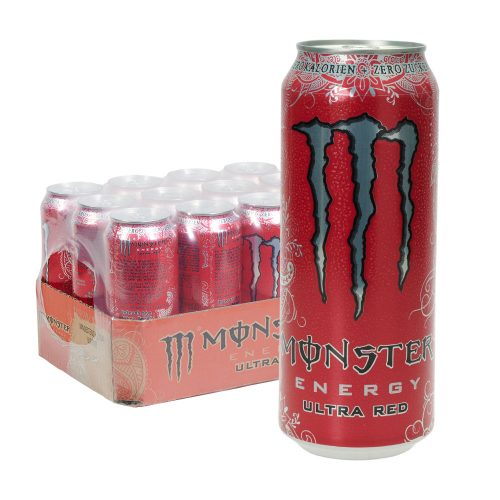 Monster Energy Ultra Red 24 x 0,5L Dose