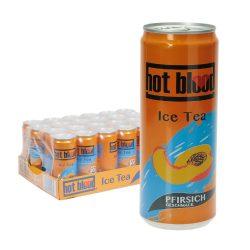 Hot Blood Ice Tea Pfirsich 24 x 0,33L Dose