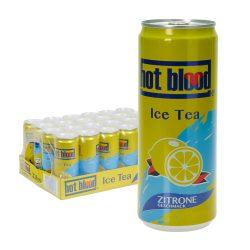 hot blood ice tea zitrone 24 0,33l dose